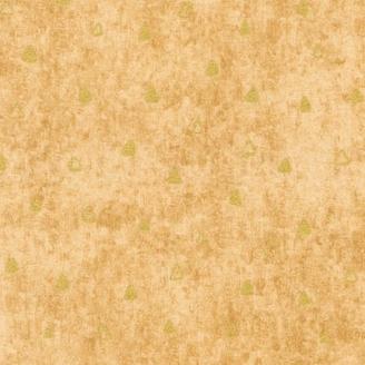 Tissu Gustav Klimt triangles dorés fond beige