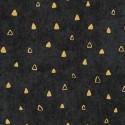 Tissu Gustav Klimt triangles dorés fond noir