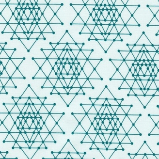 Tissu pacthwork grandes étoiles fond bleu ciel - Palm Canyon
