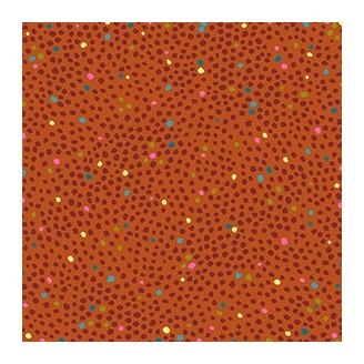 Tissu patchwork pointillées fond orange - Ashtyn