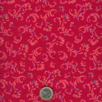Tissu patchwork arborescences fond fuchsia - Ashtyn