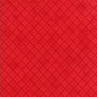 Tissu patchwork classique croisillons fond rouge - Farmhouse Reds