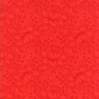 Tissu patchwork classique fleurs rouges ton sur ton - Farmhouse Reds