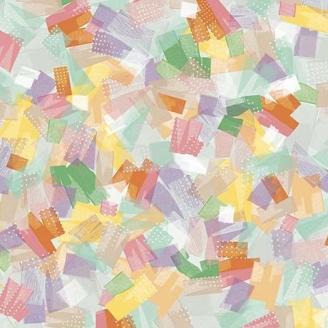 Tissu patchwork éclats de couleurs - Confetti blossoms