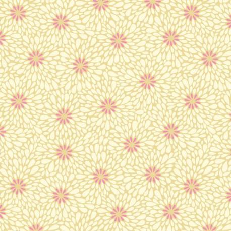 Tissu patchwork pétales fond écru - Sundance de Beth Studley