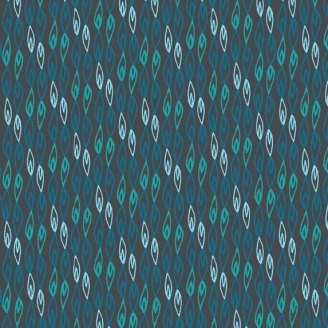 Tissu patchwork flammes bleues fond marine - Sundance de Beth Studley