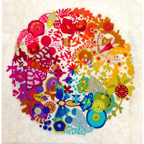 Tissu patchwork sphères Ex-Libris multico fond écru - Alison Glass