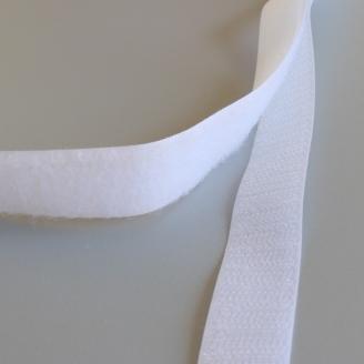 Velcro® blanc de 20 mm, bande auto-agrippante - 20 mm x 1 mètre
