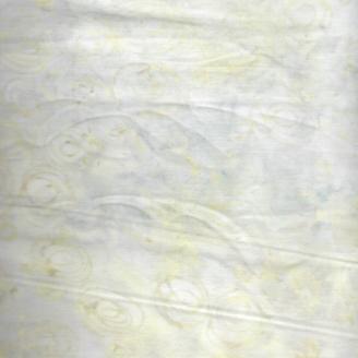 Tissu batik bourgeons ton sur ton crème