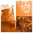 Solarfast de Jacquard, teinture au soleil - Orange