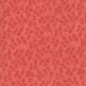 Tissu patchwork classique rameaux rouges ton sur ton - Victoria de 3 Sisters