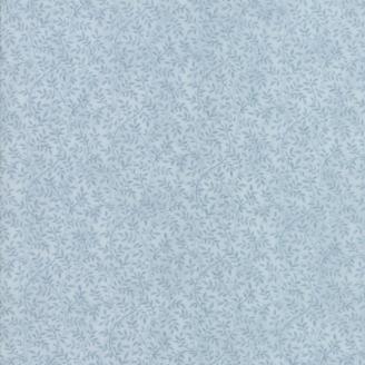 Tissu patchwork classique lianes bleu ciel ton sur ton - Victoria de 3 Sisters
