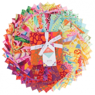 Charm pack Kaffe Fassett Rouge Sunrise