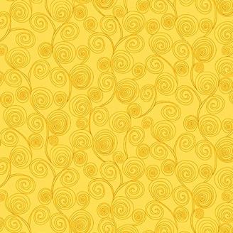 Tissu patchwork vagues jaune - Little Squirt