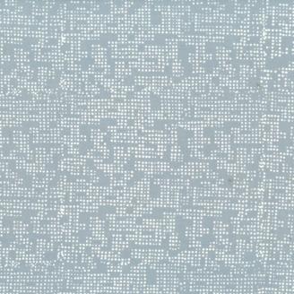 Tissu batik moderne - Points fond gris argent
