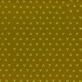 Tissu batik moderne - Trio de pois Vert Olive