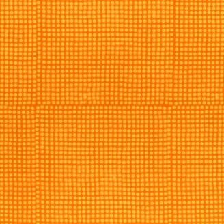 Tissu batik moderne - Pois orange