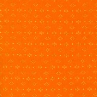 Tissu batik moderne - Graphisme abstrait Orange Marmelade