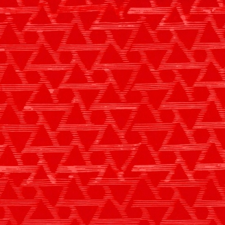 Tissu batik moderne - Triangles Rouge Passion