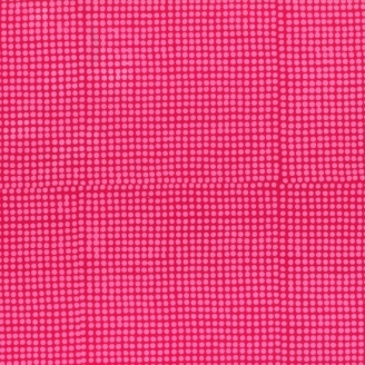 Tissu batik moderne - Pois rose Azalée