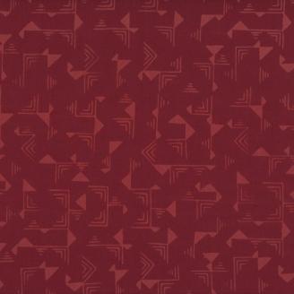 Tissu batik moderne - Graphisme abstrait Bourgogne