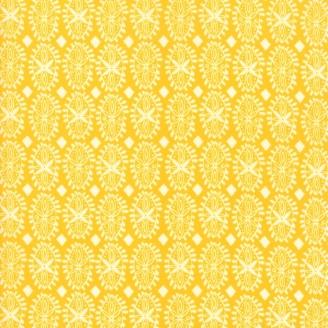 Tissu patchwork pétale fantaisie fond jaune soleil - Painted Garden de Moda