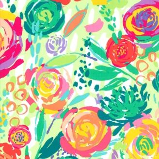 Tissu patchwork fleurs du jardin multicolores - Painted Garden de Moda