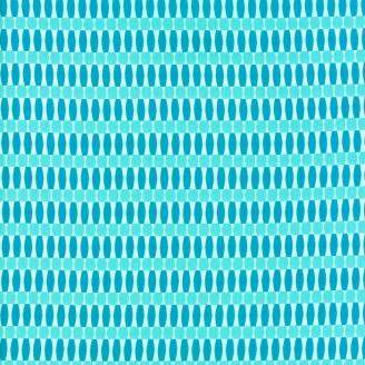Tissu patchwork formes géométriques turquoise - Painted Garden de Moda