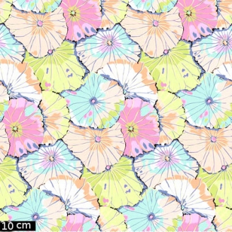 Tissu patchwork Kaffe Fassett Lotus Leaf pastel GP029