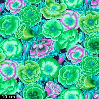 Tissu Philip Jacobs - Coquelicots verts Poppy Garden PJ095