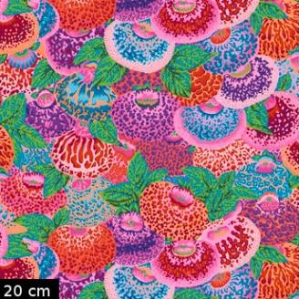 Tissu Philip Jacobs - Lady's purse Fleurs Calcéolaires PJ094
