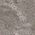 Tissu patchwork faux-uni Arabesque Gris Galet - Ombre Scroll