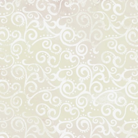 Tissu patchwork faux-uni Arabesque Ecru Crystal - Ombre Scroll