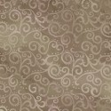 Tissu patchwork faux-uni Arabesque Taupe - Ombre Scroll