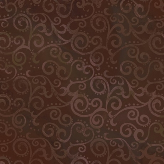 Tissu patchwork faux-uni Arabesque Chocolat - Ombre Scroll