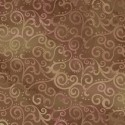 Tissu patchwork faux-uni Arabesque Brun - Ombre Scroll