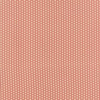 Tissu patchwork mini fleurs beiges fond rouge - Jardin de Versailles de French General