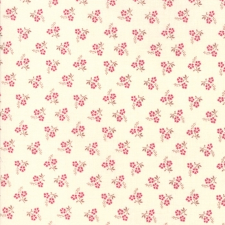 Tissu patchwork duo de fleurs fond beige clair - Jardin de Versailles de French General