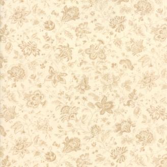 Tissu patchwork toile indienne ton-sur-ton écru - Jardin de Versailles de French General