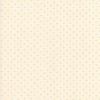 Tissu patchwork minis ronds et pois beiges fond écru - Farmhouse Reds