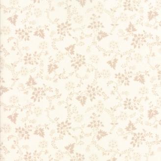 Tissu patchwork classique lianes fleuries ton-sur-ton écru - Regency de Moda