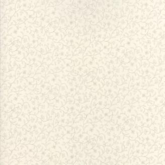 Tissu patchwork classique vigne fleurie ton-sur-ton écru - Regency de Moda