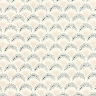 Tissu patchwork classique fougères bleues fond écru - Regency de Moda