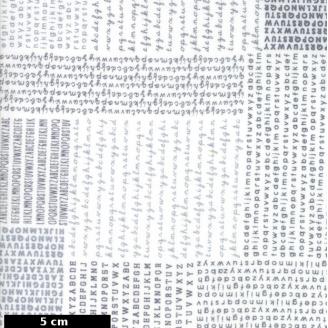 Tissu patchwork alphabets sens dessus-dessous fond blanc - Harmony de Moda