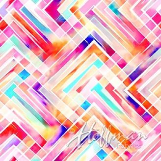 Tissu impression numérique cadres multico
