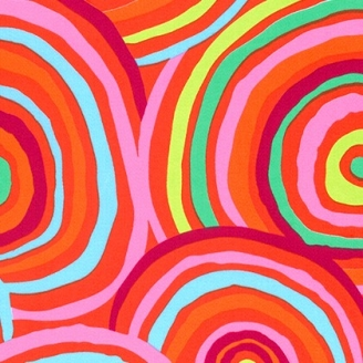 Tissu grande largeur Kaffe Fassett Circles Orange GP002