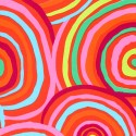 Tissu grande largeur Kaffe Fassett Circles Orange GP002