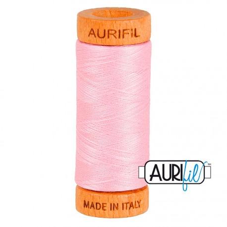 Fil de coton Mako 80 Aurifil - Rose Princesse 2423