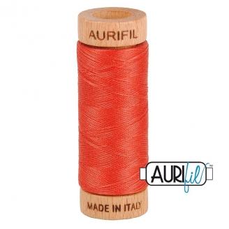 Fil de coton Mako 80 Aurifil - Rouge Vermillon 2255