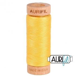 Fil de coton Mako 80 Aurifil - Jaune Jonquille 1135